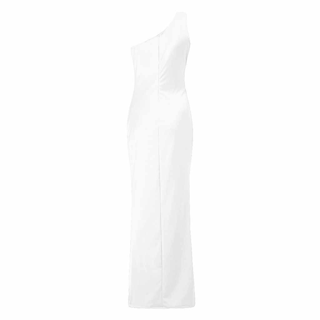 TELOTUNY גבירותיי שמלת נשים אחת כתף Ruched לפרוע פורמליות ערב DressSlim מקסי שמלות נשים שמלת אופנה חמה חדש Jan22