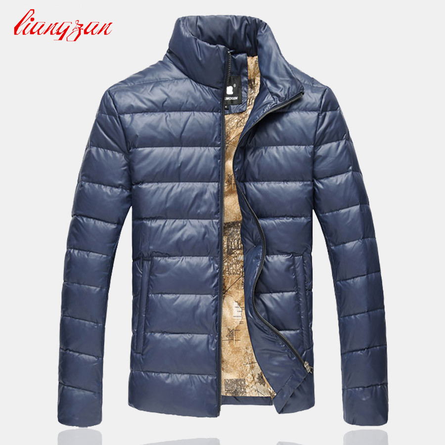 Men Winter White Duck Down Jacket And Coats Winter Snow Warm Stand Collar Overcoats Brand Male Slim Fit Plus Size Parkas SL-K187