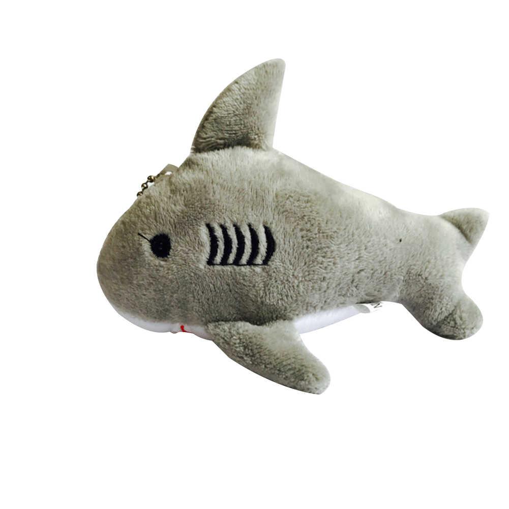 12 centímetros Bonito Tubarão De Pelúcia Recheado Pendurado Boneca Bolsa Pingente Chaveiro Decoração Brinquedos de Pelúcia