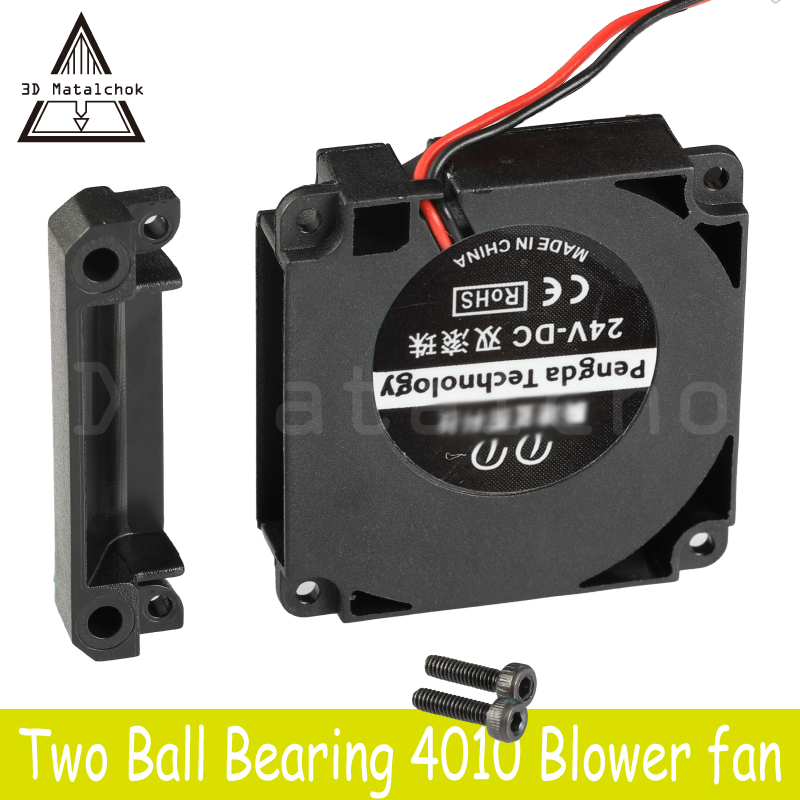 3D Matalchok Printer Accessories 12V 24V 40*10mm <font><b>4010</b></font> 40mm Dual Bearing DC Turbo Fan <font><b>Blower</b></font> Radial Cooling Fans Creality CR-10 image