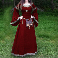 Women dress Renaissance Victorian Medieval Gothic Long Dresses For party Gowns Costumes elegant Dresses elegant dress O26