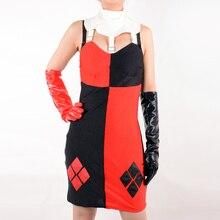 Harley Quinn joker Payaso cosplay disfraces de halloween para las mujeres sexy Traje de adultos de disfraces niñas fiesta de superhéroes personalizada