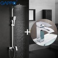 GAPPO Shower Faucets Bath Tub Taps Bathroom Shower Set Basin Faucets Basin Sink Tap