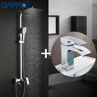 GAPPO Shower Faucets Bath Tub Taps Bathroom Shower Set Basin Faucets Basin Sink Tap