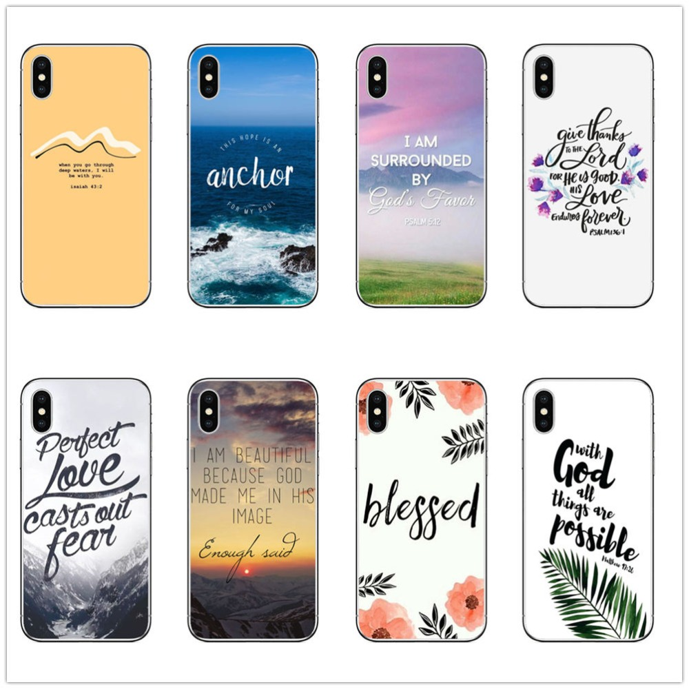 Strength Bible Verse Philippians Jesus Christ Christian Girl Power cover for iPhone 6s 8 7 6 Plus 5 5S SE X XR XS MAX Case coque image