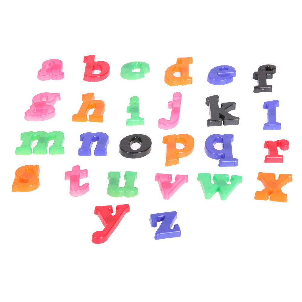 26pcs Lowercase Magnetic White Board Refrigerator Sticker Early Stiker Switch Lampu Kucing Gantung Learning Toy Educational Toys Digital In Fridge Magnets From Home Garden
