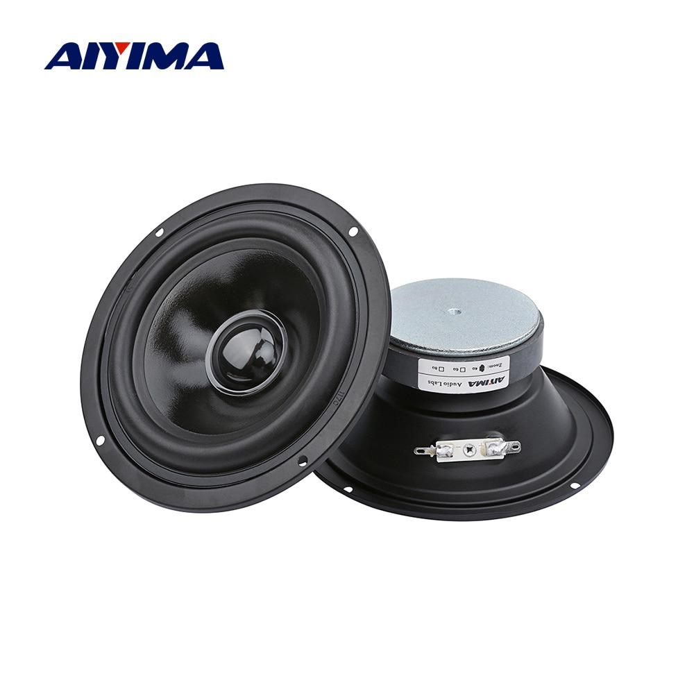 AIYIMA 2Pcs 5 Inch Audio Portable Sound Speakers Column 4 Ohm 40 W 25 Cores Mindrange