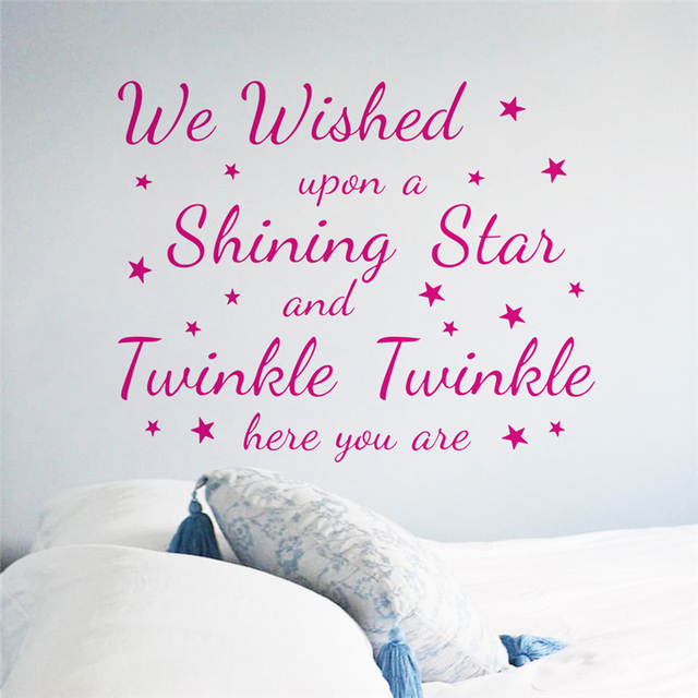 We Wished Upon A Shining Star Twinkle Quotes Wall Decals For Kids