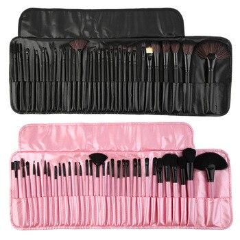 Novo conjunto de 32 peças profissionais escovas pacote completo make-up escovas transporte da gota