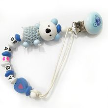 Premium Baby Pacifier Chain Clip Cute Koala Letter Anti-fall Newborn Dummy Holder Infant Nipple Feeding