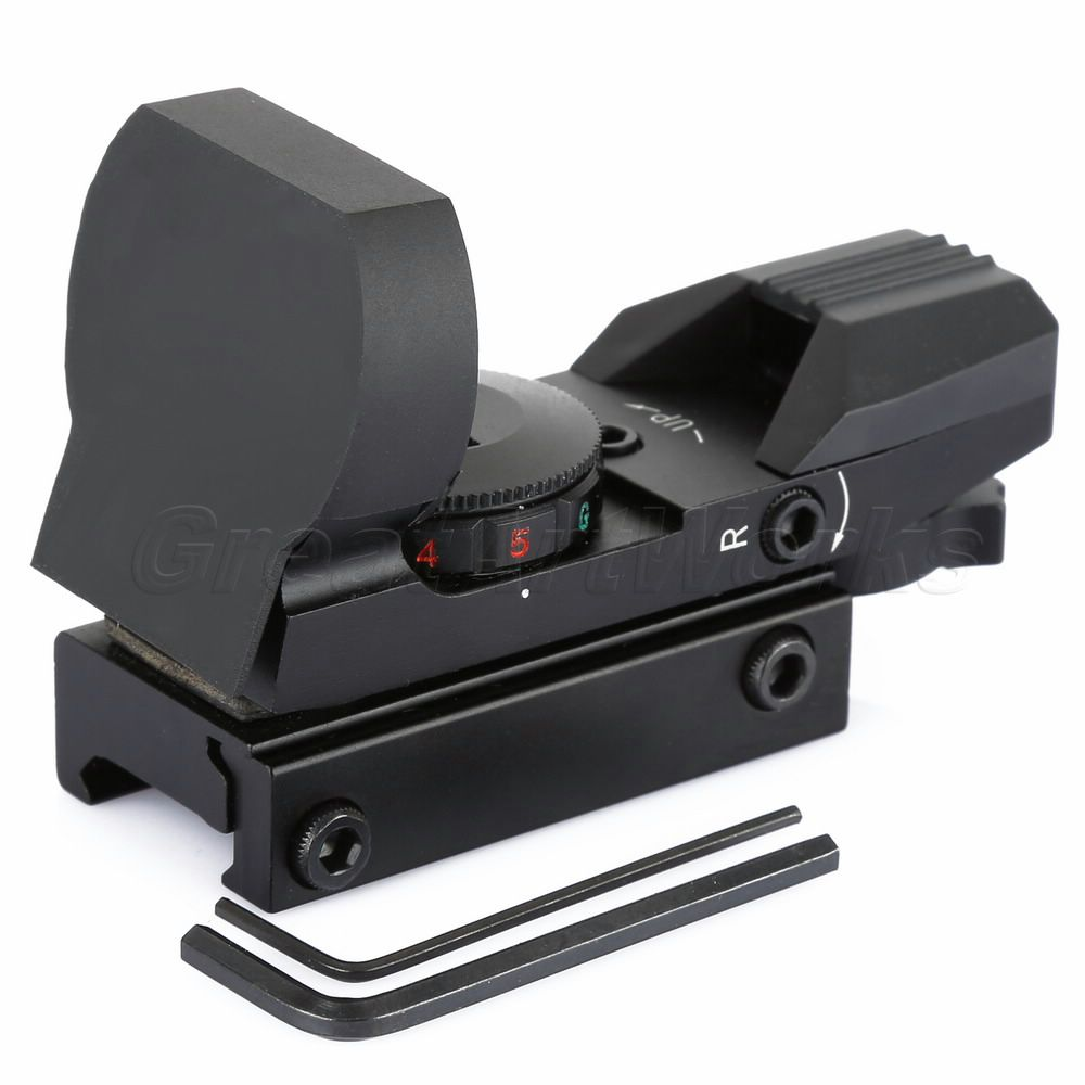 Good Quality Holographic Reflex 4 Reticle Red Green Dot Tactical Sight Scope 20mm Picatinny Rail Mount
