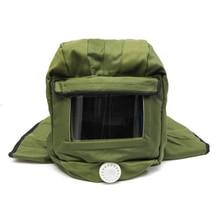 Sand Blasting Protective Face Mask Hood Cap Anti Dust Proof  Equipment Wind Respirator Sandblasting Helmet Supplies