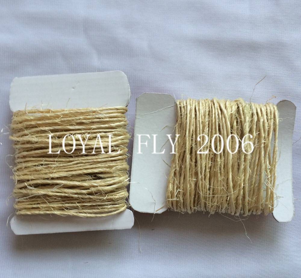 US $17 09 10% OFF|10cards/lot(total (100yards) 100% natural 1 5mm 1 ply  twisted sisal rope, sisal packing twine cords used in home, graden  packing-in