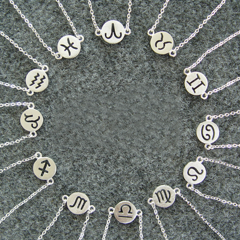 Shunyun Virgo/Sagittarius/Aquarius/Scorpio/Libra/Capricorn 12 Constellation Bracelet Personalized Zodiac Sign Bracelets & Bangle