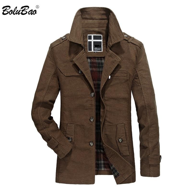 BOLUBAO Men's Jackets Windbreaker 2019 Autumn New Casual Cotton Coats Men Solid Color Slim Lapel Male Jacket Coats