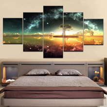 Canvas Paintings Wall Art Frame Modular HD Prints Starry Sky Poster 5 Pieces Tree Abstract Landscape Pictures Kids Room Decor french origin vandoren eb baritone saxophone reeds sax accessories