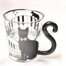 Black Cute Kitty Cat Cup for Tea, Milk, Juice & Coffee
