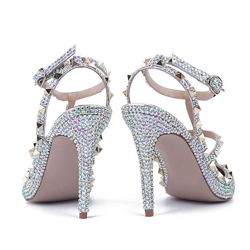 Élégant Hauts Mariage Sandales Gladiateur En Talons Colorful 2019 Mode Grande Femmes De À Pour Pu white Boucle Chaussures Style Perle Cuir Nouvelle Taille Femme qxIw14a