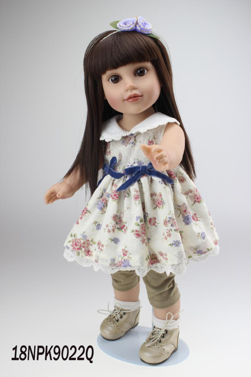 ФОТО 18 inch Lovely American Girl Princess Doll Baby Toy Doll with Fashion Designed Dress Journey Girl Doll Alexander Doll