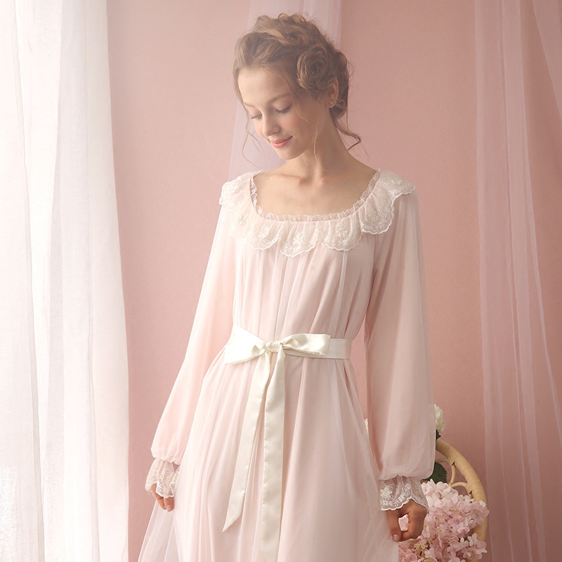 Sleepwear Nightgown Women Sleepwear Princess Queen Nightgown Vintage
