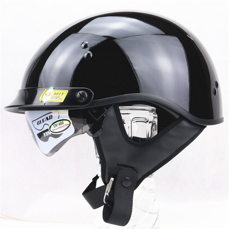 2 Visors SOL Harley Motorcycle Helmets Moto Bike Open Face Vintage Helmet Harley style helmet with Winter Skirt cover DOT approv 1000m motorcycle helmet intercom bt s2 waterproof for wired wireless helmet