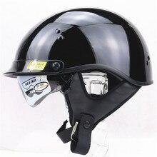 2 Козырьки SOL Harley Мотоциклетные Шлемы Moto Велосипед Открытым Лицом Vintage Шлем Harley стиль шлем с Зимой Юбка крышка ТОЧКА approv