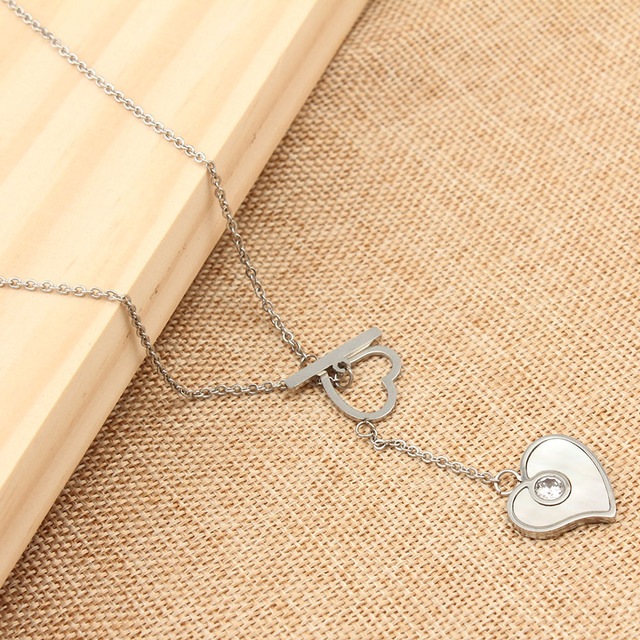 Heart Shaped Stainless Steel Necklaces