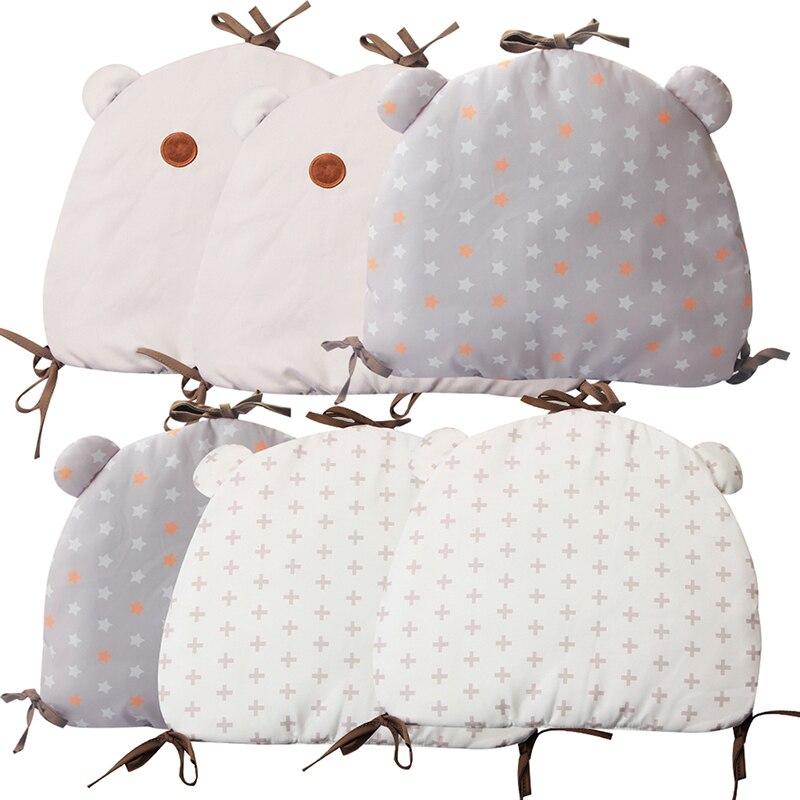 6Pcs Baby Bed Bumpers Protector Infant Bedding Set Newborn Crib Backrest Toddler Cartoon Animal Bedding