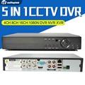 4Ch 8Ch 16Ch 5 EM 1 Híbrido Suporte CVI TVI AHD DVR XVR CVBS Câmera IP Onvif 1080 P 3MP 5MP CCTV NVR P2P Controle RS485 Coxial vista
