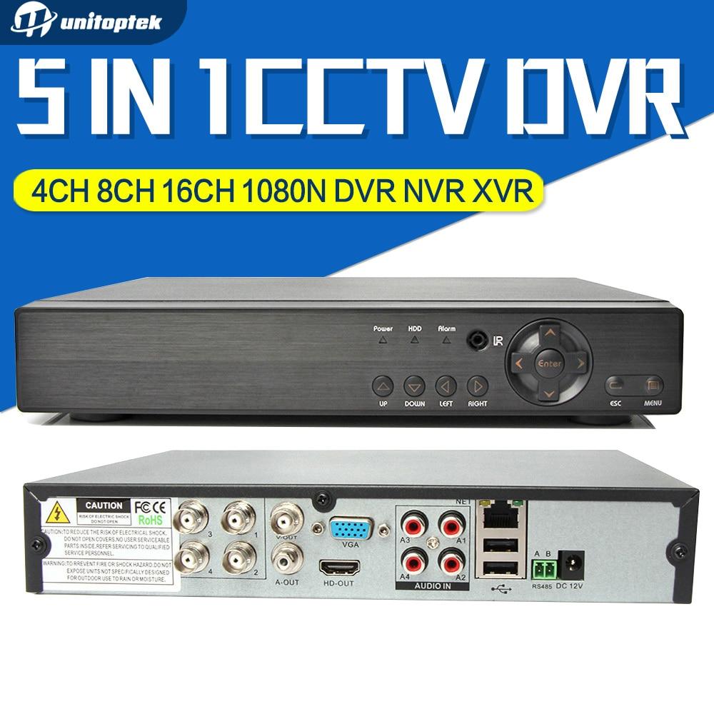 ФОТО 4Ch 8Ch 16Ch 5 IN 1 Hybrid DVR XVR Support AHD CVI TVI CVBS IP Camera Onvif 1080P 3MP 5MP CCTV NVR RS485 Coxial Control P2P View