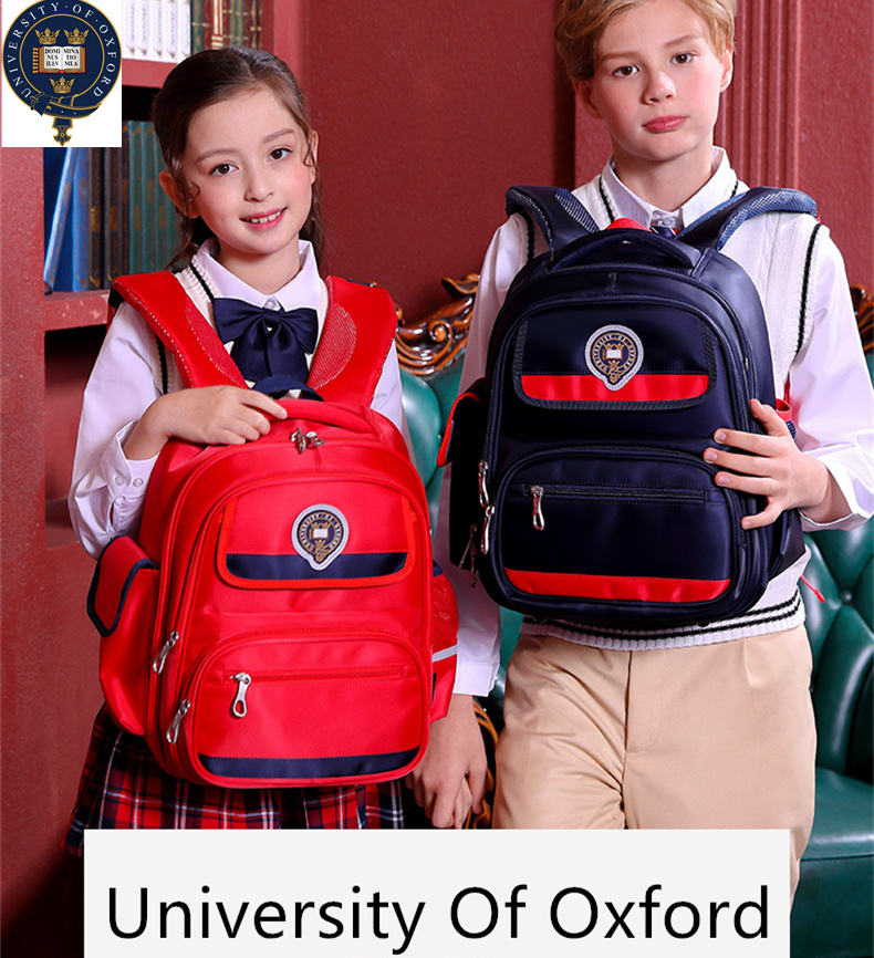 2019 New University Of Oxford Orthopedic school bags backpack waterproof for Kids boys girls class 1