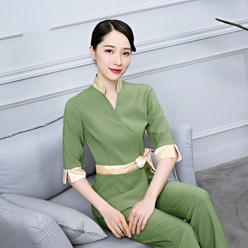 2018 new  SPA  Workwear  Long sleeve Massage Work Uniform Sets Female Hospital Nurse Uniforms Wholesales Beauty Clothing
