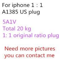цена на 10pcs/AAAAA Quality USB 20 Gram Foxconn original A1385 US Plug Wall Adapter 1:1 5V1A AC For iPhone x 8 7 6s 6 plus 5S 5C 5