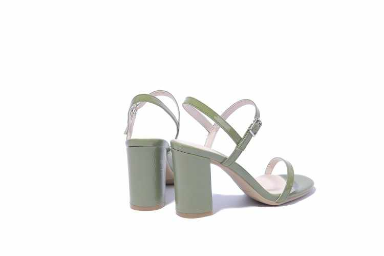 Xianyiduo 2018 Concise été chaussures pour femmes talons hauts bout ouvert bureau et carrière sandales grande taille 34-48Sexy/8360-1
