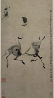 traditional Chinese painting landscape picture scenery posters prints art poet on the donkey back by Xu Wei Ming Dynasty giclee