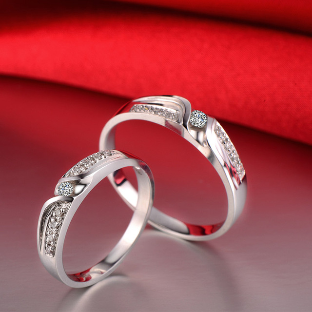 18ct Gold Diamond Couple Set Rings Wedding Bands Engagement Rings