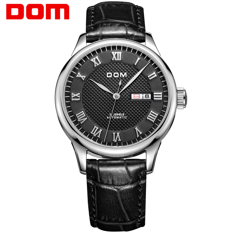 DOM Men's Watches Top Brand Luxury Waterproof Mechanical Stainless Steel Watches for Men Business Wrist Watch reloj hombre M59 цена