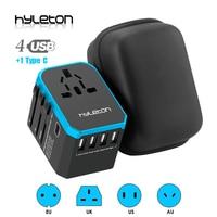 Hyleton adaptador de viagem universal adaptador de energia carregador em todo o mundo adaptador de parede elétrica plugues soquetes conversor para telefones celulares