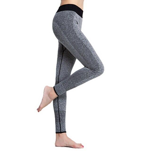 2018 Mùa Xuân-Mùa Thu của Phụ Nữ Xà Cạp Thể Dục Cao Eo Phụ Nữ Đàn Hồi Xà Cạp Workout Legging Quần