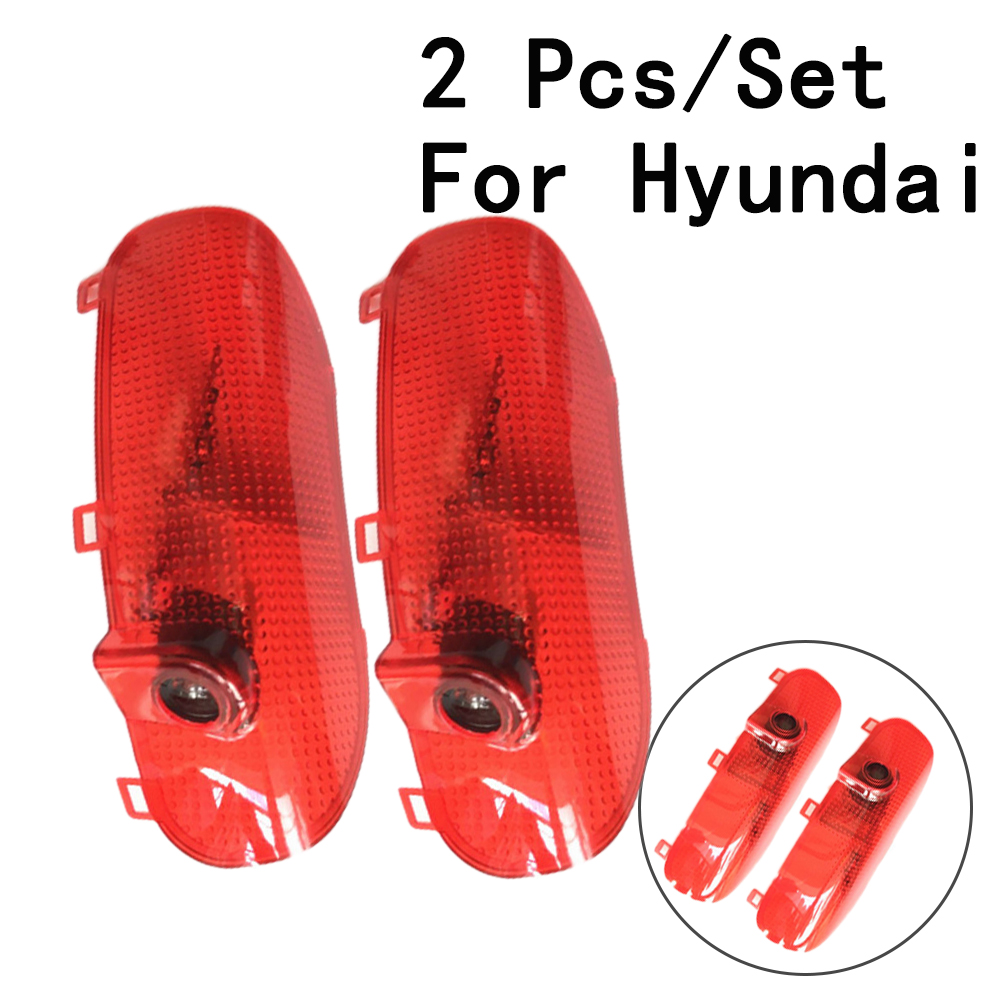 12/24V Only For Hyundai/Sonata 8 With Logo 2Pcs/Set 5W Ghost Shadow Projetor Auto Door Lamp LED Courtesy Lens Include