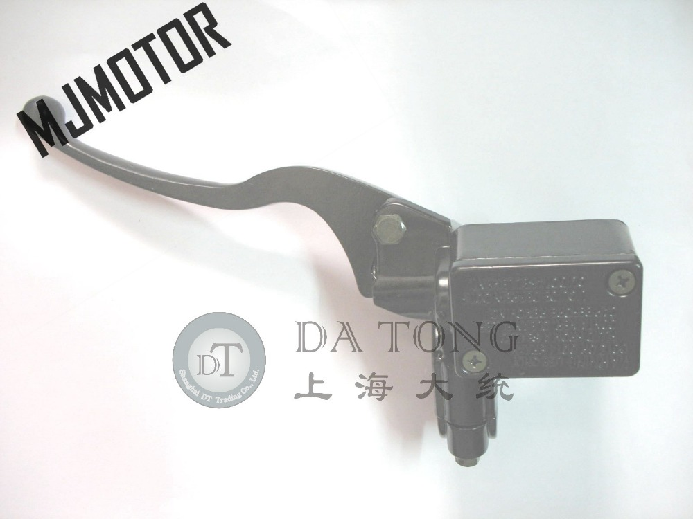 Черный Гидравлические Черный Тормозная ручка в сборе левая сторона для китайского мопедов Honda Yamaha Kawasaki Мотоцикл ATV Мопед часть