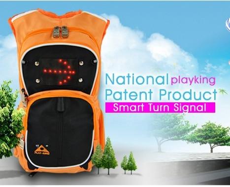 6,5 literes hangszóró táskák LED biztonságos kültéri - Kerékpározás
