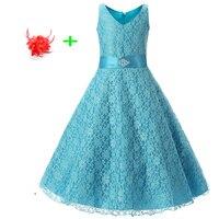 Dịp đặc biệt Prom Dresses cho Trẻ Em Gái Tuổi 8 9 10 11 12 13 14 Trẻ Em Màu Đỏ Thủy Màu Xanh Hoa Girl Dress cho Đám Cưới 2017