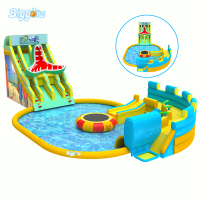 Hot selling inflatable water park adult giant inflatable commercial floating water park