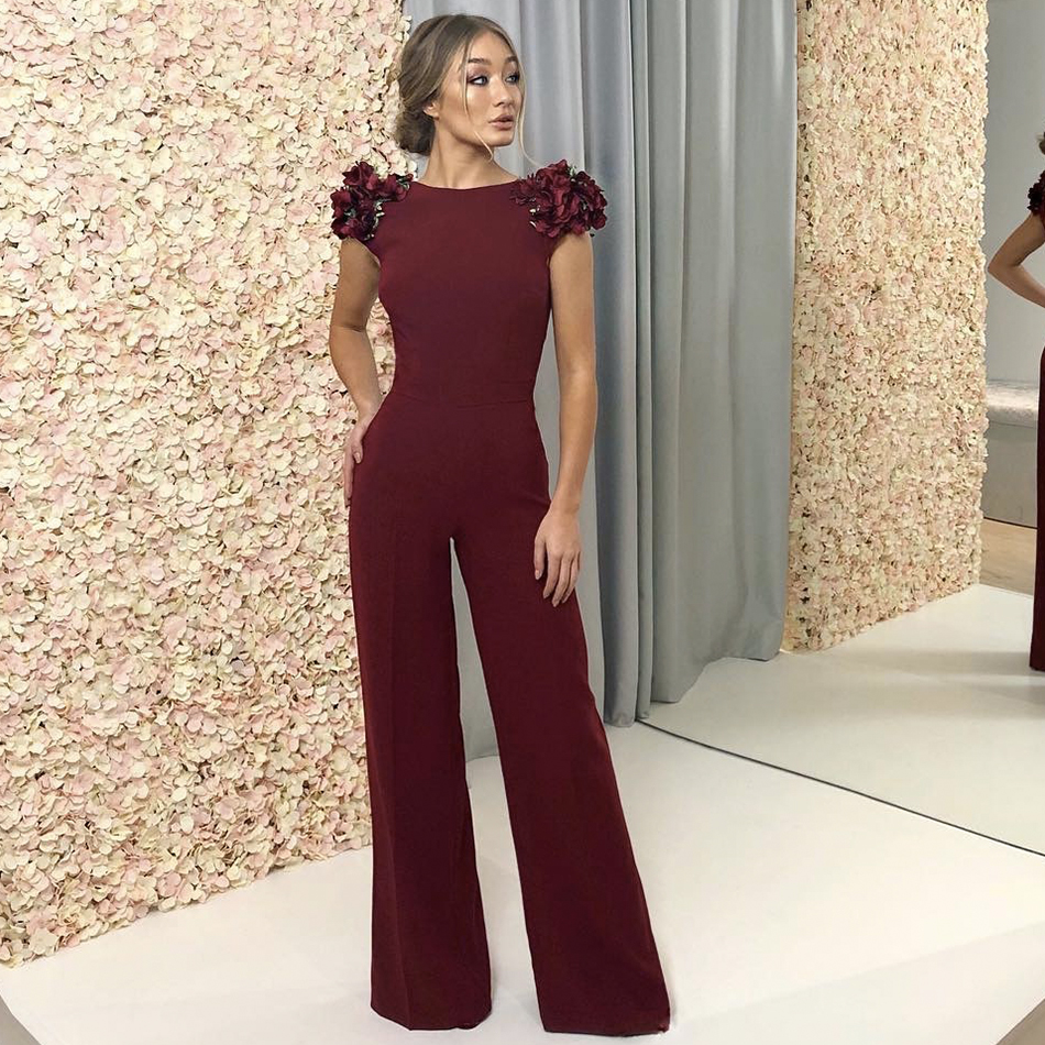 ADYCE Celebrity Runway Jumpsuits For Women 2019 Summer Sexy Red Backless Romper Long Jumpsuit Sexy Ruffles