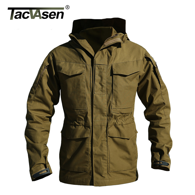 TACVASEN US Army Clothes Casual Military Tactical Jacket Windbreaker Men Winter Thermal Coat Hoody Jacket TD-QZJL-004