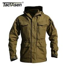 TACVASEN M65 UK US Army Clothes Casual Military Tactical Jacket Windbreaker Men Winter Thermal Long Coat Hoody Jacket QZJL-004