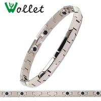 Wollet Mode-sieraden Healing Energie Magneet Pure Titanium Armband voor Mannen Sport Gift Voor Vriendschap