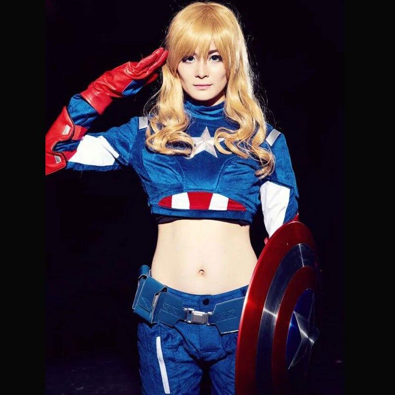 Female captain america cosplay costume share