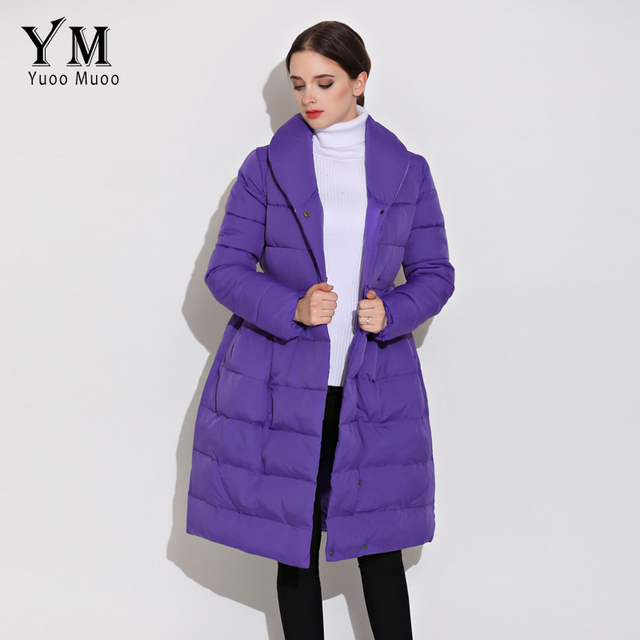 f152cbf50217 YuooMuoo New Korean Fashion A line Women Winter Coat Warm Cotton ...